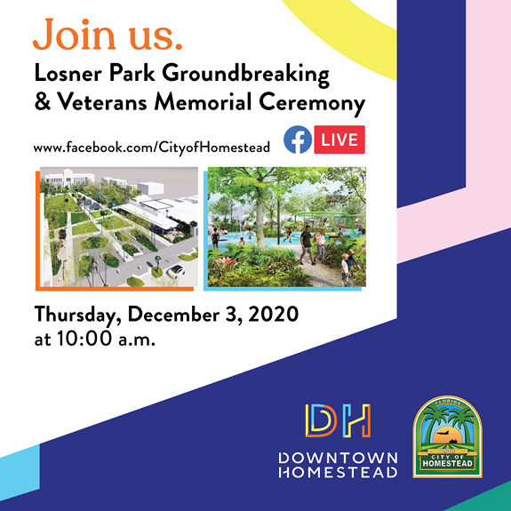 Losner Park Groundbreaking Invitation